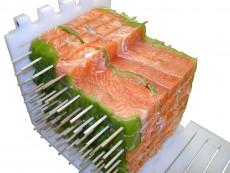 brochette CARRE saumon dans moule